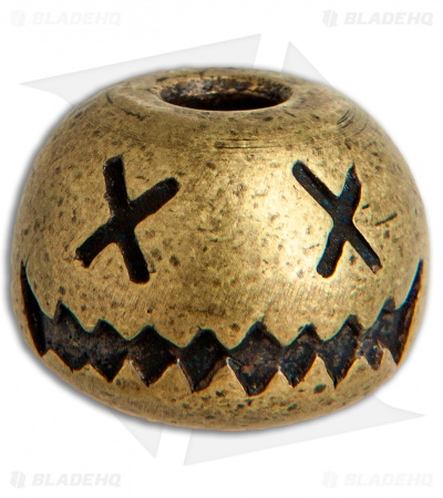 Audacious Concept Smiley Bead - Large Brass