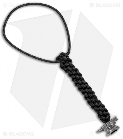 "Buck Black 4"" Lanyard w/ Mini Anvil Bead (Pewter)"