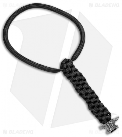 "Buck Black 6"" Lanyard w/ Anvil Bead (Pewter)"