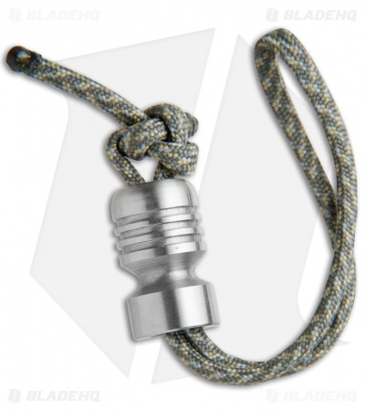 Butterfield Machine Stainless Steel Bomber Bead w/ Paracord Lanyard