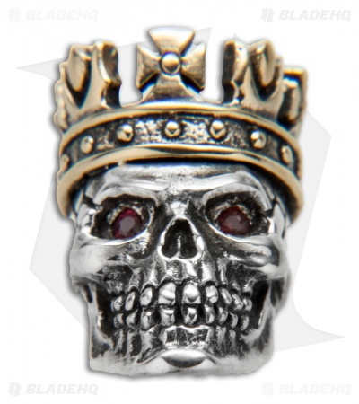GD Skulls King Skull 2 w/ Red Eyes - Silver/Bronze
