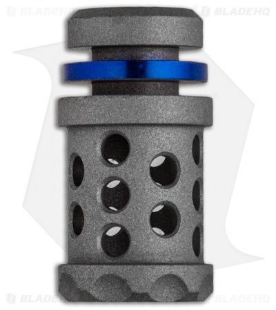 Grumpy's EDC Titanium Barrel Muzzle Brake Bead - Thin Blue Line