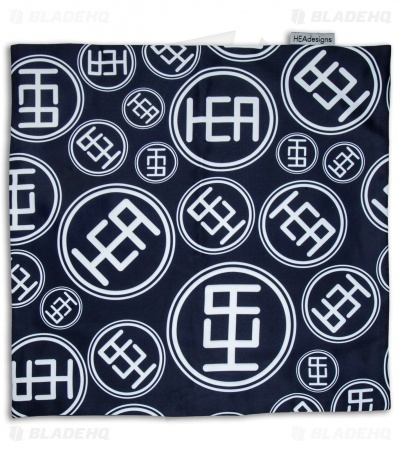 "HEAdesigns Logo Hank 11"" x 11"" Handkerchief (Royal Blue)"