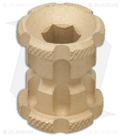 Koch Tools Ball Nose Brass Bead - Knurled Blasted
