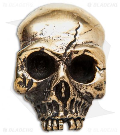 Lion ARMory Ancient Skull Lanyard Bead Brass