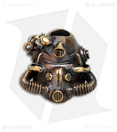 RUS Beads Shop Apocalypse Gas Mask Lanyard Bead - Bronze