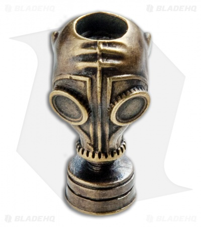 RUS Beads Shop Gas Mask Lanyard Bead - Bronze