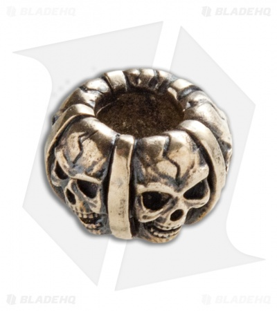 RUS Beads Shop Skull Band Lanyard Bead - Bronze
