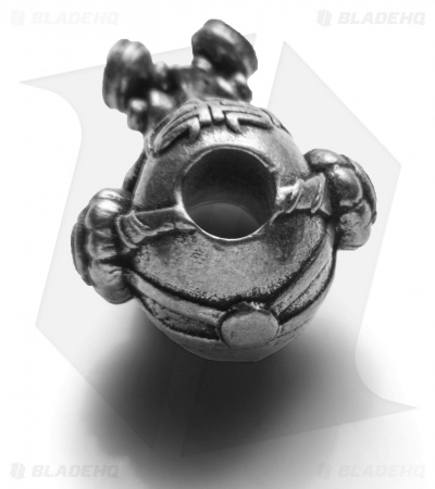 Schmuckatelli Brous Gas Mask Skull Bead w/ Logo (Pewter)