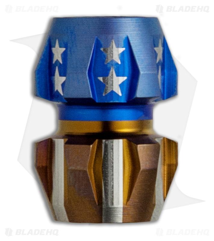 Ti2 Design Rogue Titanium Lanyard Bead America Edition Blade Hq