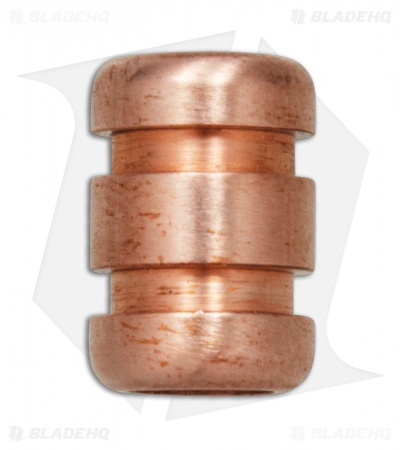 TiSurvival Grooved Copper Lanyard Bead - Satin