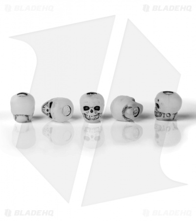 Lanyard Skull Beads Small (Set of 5) Glow in the Dark