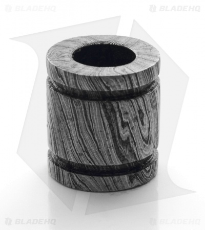 Tallen Grooved Barrel Bead (Damascus)