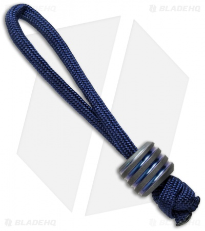 Hanks by Hank HBH Hardware Twisted Fatty Titanium Bead Blue