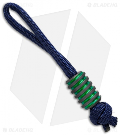 Hanks by Hank HBH Hardware Twisted Slim Titanium Bead Green