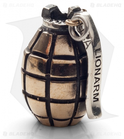 Lion ARMory Hand Grenade Bead Brass