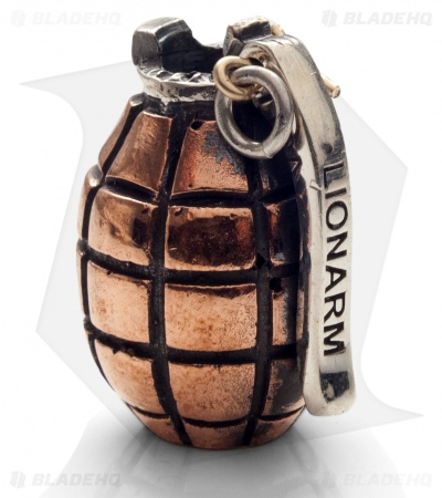 Lion ARMory Hand Grenade Bead Copper