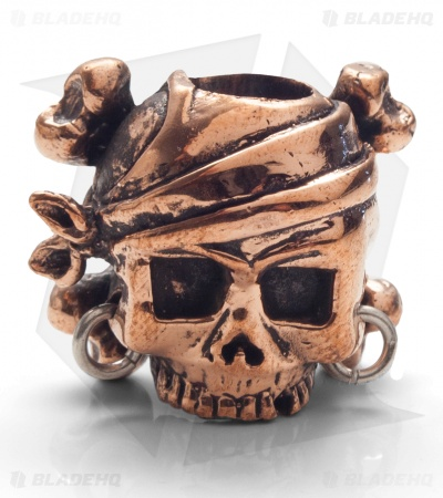 Lion ARMory Pirate Skull & Crossbones Bead Copper