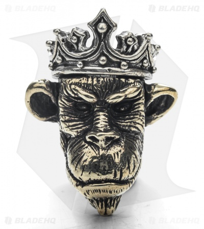 Lion ARMory Ape King Bead Brass/Silver