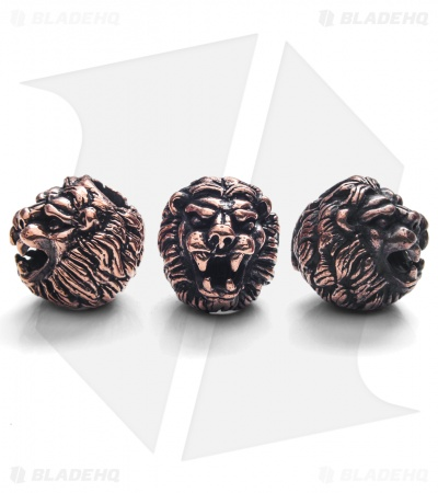 Lion ARMory Small Lion Head Beads Copper (Set of 3)
