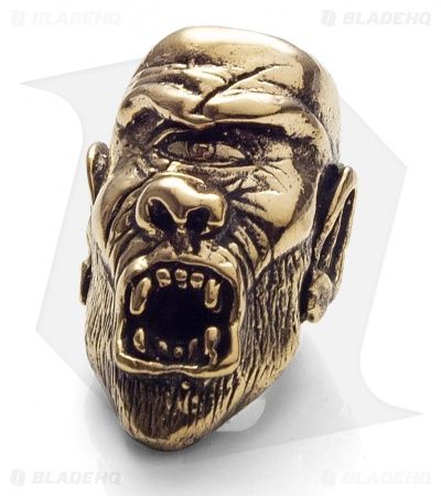 Lion ARMory Cyclops Skull Bead Brass