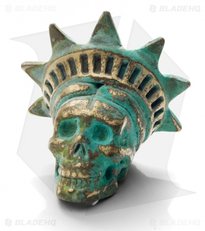Lion ARMory Freedamn Skull Bead 1000 Year Brass
