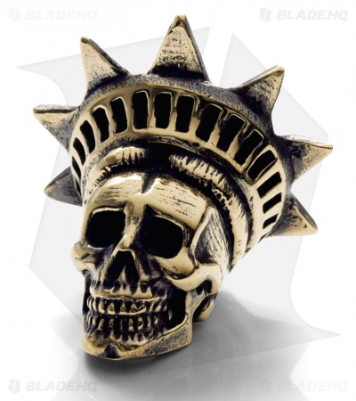 Lion ARMory Freedamn Skull Bead Brass