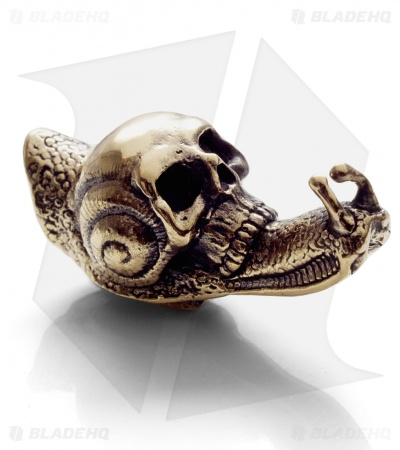 Lion ARMory Skull Snail Bead Brass