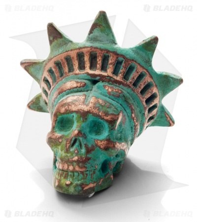 Lion ARMory Freedamn Skull Bead 1000 Year Copper