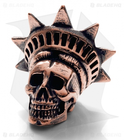 Lion ARMory Freedamn Skull Bead Copper