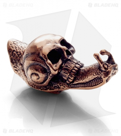 Lion ARMory Skull Snail Bead Copper