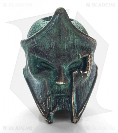 Lion ARMory King Leonidas Bead Brass 1000 Year Old Patina