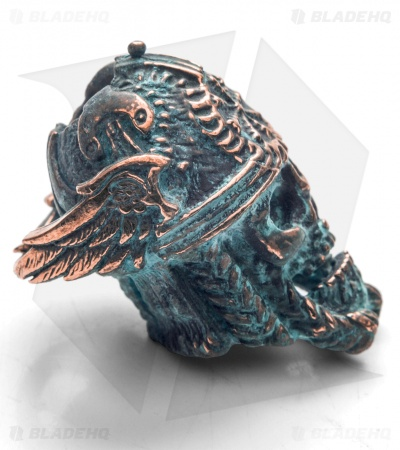 Lion ARMory Norseman Skull Bead Copper 1000 Year Old Patina