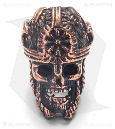 Lion ARMory Norseman Skull Bead Copper