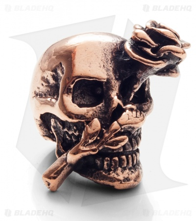 Lion ARMory Skull & Rose Bead Copper