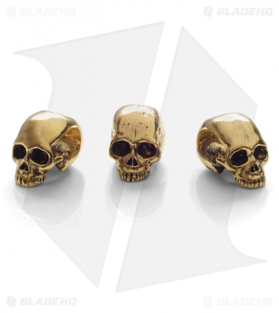 Lion ARMory Small Skull Head Beads Brass (Set of 3)