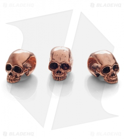 Lion ARMory Small Skull Head Beads Copper (Set of 3)
