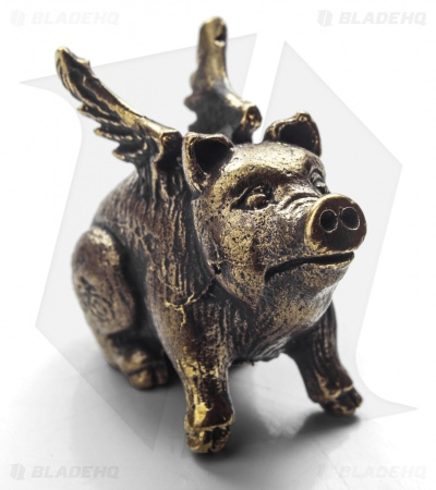Lion ARMory When Pigs Fly Bead Brass