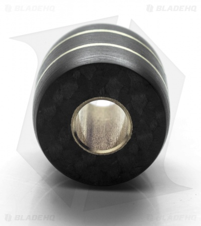 St. Clair Designs Carbon Fiber & Brass Lanyard Bead