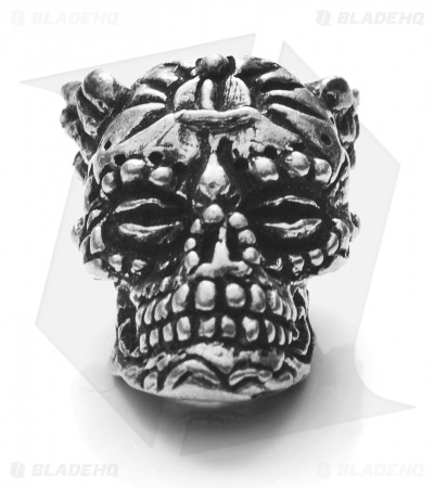 Schmuckatelli Aquilo Sugar Skull (Antique Rhodium)
