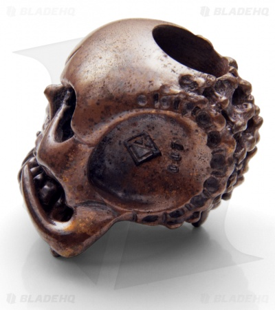 Phantom Steelworks / Chris Black Designs Seeker Skull Bead v2.0 Copper