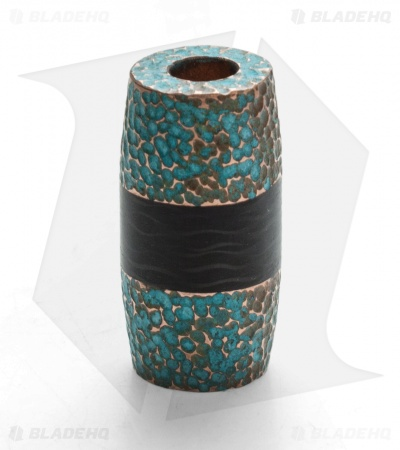 St. Clair Designs Hammered Copper & Carbon Fiber Lanyard Bead