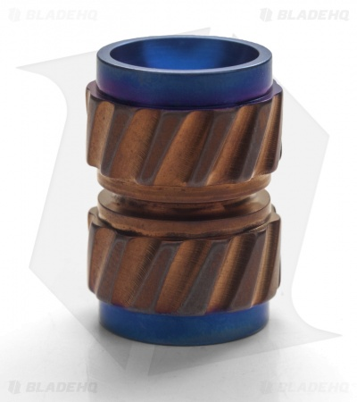 Ti2 Design HiTex Twist Titanium Bead - Bronzurple