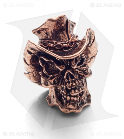 Schmuckatelli Vinnie Garoon Cowboy Skull Bead (Antique Copper)