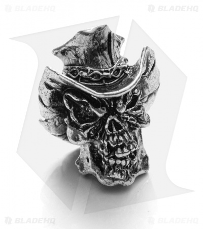 Schmuckatelli Vinnie Garoon Cowboy Skull Bead (Antique Rhodium)