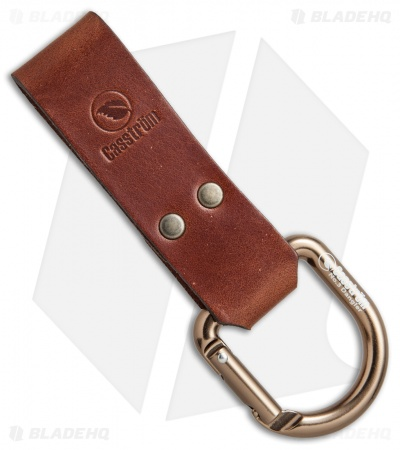 Casstrom No. 3 Dangler Sheath Extension Carabiner D-Ring (Cognac Brown)