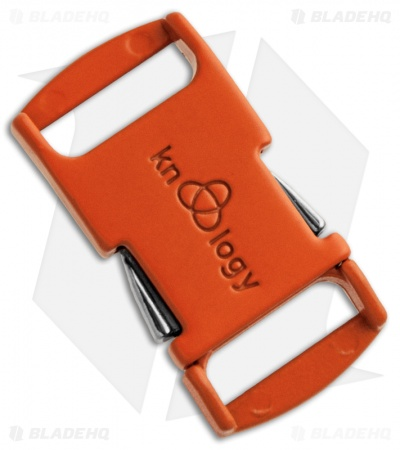 "Knottology Nito 1/2"" Full Metal Spring Assisted Snap Lock Buckle (Orange)"