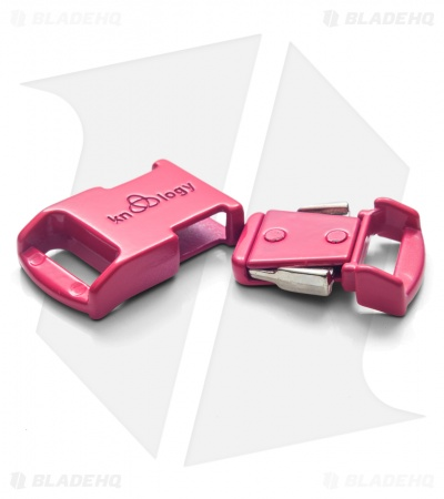 "Knottology Nito 1/2"" Full Metal Spring Assisted Snap Lock Buckle (Hot Pink)"