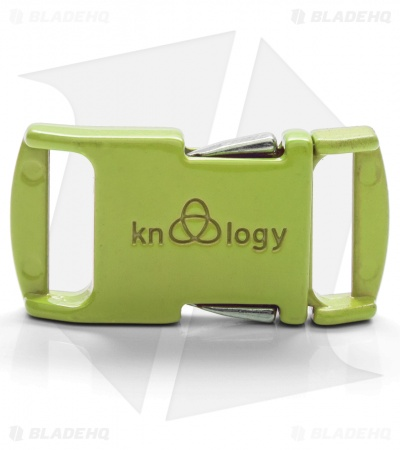 "Knottology Nito 1/2"" Full Metal Spring Assisted Snap Lock Buckle (Key Lime)"
