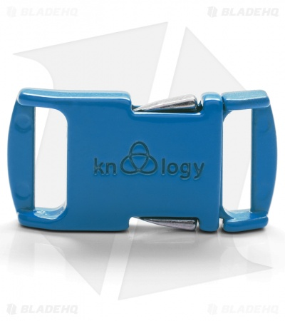 "Knottology Nito 1/2"" Full Metal Spring Assisted Snap Lock Buckle (Neon Blue)"